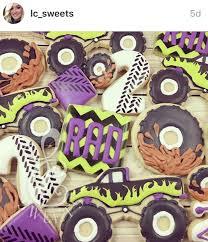 100 Monster Truck Cookies Truck Tire Cookies Decorated Cookies I Love Pinterest