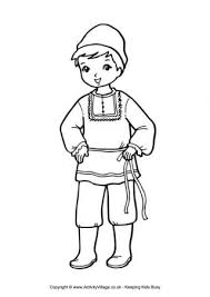 Russian Boy Colouring Page