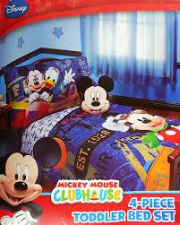 amazon com disney mickey mouse 4pc toddler bedding set genuine