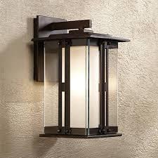 fallbrook collection 11 3 4 high bronze outdoor wall light