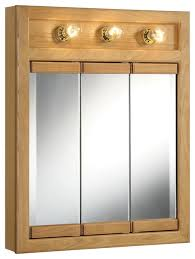 oak medicine cabinet with mirror and lights roselawnlutheran