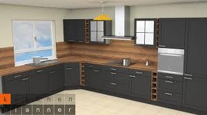 küchenplanung klassische winkelküche in schwarzer