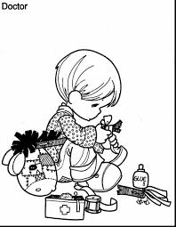 Stunning Precious Moments Doctor Coloring Pages With Who And