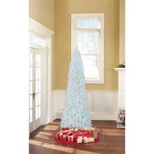 7ft Aspen Slim Christmas Tree by Holiday Time Pre Lit Brinkley Pine Artificial Christmas Tree