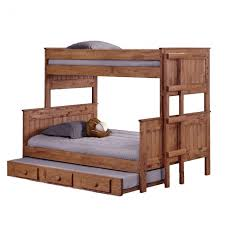 Twin Over Full Bunk Bed With Stairs Teak Twin Over Full Bunk Bed
