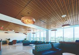 100 Wood On Ceilings Ceilings Reinforce Connection To Nature At South Florida Cancer