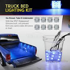 100 Truck Bed Lighting System 8pcs Pickup Blue 48 LED Cargo Area Tail Light Kit Fit All