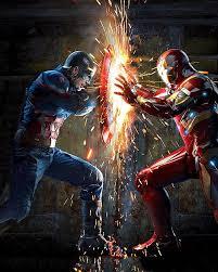 Iron Man V Captain America Logo Black And White Clipart