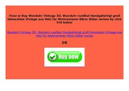 promo wanduhr vintage 3d wanduhr rustikal handgefertigt