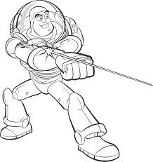 Coloring Buzz Lightyear Use Laser Picture