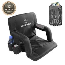 Hitorhike Stadium Seat For Bleachers Or Benches Portable Reclining Stadium  Seat Chair With Padded Cushion Chair Back And Armrest Support Recling Stadium Seat Portable Strong Padded Hitorhike For Bleachers Or Benches Chair With Cushion Back And Armrest Support Pnic Time Oniva Navy Recreation Recliner Fayetteville Multiuse Adjustable Rio Bleacher Boss Pal Green Folding Armrests 7 Best Seats With Arms 2017 The 5 Ranked Product Reviews Sportneer Chairs 1 Pack Black Wide 6 Positions Carry Straps By Hecomplete Khomo Gear And Bench Soft Sided