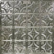 ceiling tile faux tin like anet antique silver