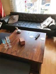 wohnzimmer truhentisch dunkelbraun