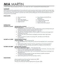 Example Secretary Resume Objective
