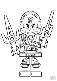 Lego Ninjago Coloring Pages Jay Zx Page Free Printable Draw