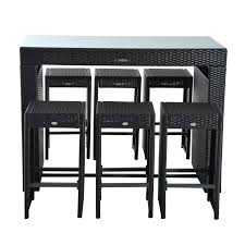 Outsunny Patio Furniture Assembly Instructions by Aosom Outsunny 7 Piece Rattan Wicker Bar Stool Dining Table Set