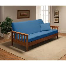 Madison Industries Solid Jersey Full Futon Cover Blue | Products In ...