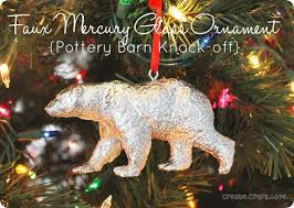 Mercury Glass Bear Ornament