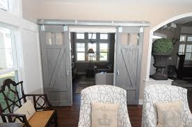 Door Design : Gray Indoor Barn Door With Two Tracks Den Doors Of ... Exterior Sliding Barn Doors Door Hdware For Garage Florida And Repairsliding Remodelaholic 35 Diy Rolling Ideas Built A Sliding Screen Door The Journal Board Home Best On Screen Patio How To Make A Neat Glass 25 Doors Ideas On Pinterest Barn Cheap All 12 Ebony Jacobean Stain For Family Room Wood Front Amazing Front Photos Style