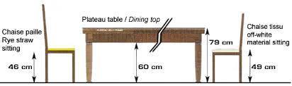 hauteur de table a manger conceptions de maison blanzza