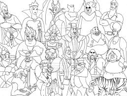 Free Disney Villains Coloring Pages Az Within