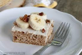 Banana Nut Muffin Cake from Muffin Mixes