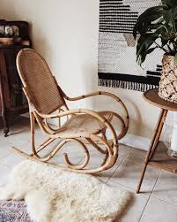 Bentwood Rattan Rocking Chair In 2019 | Rattan Rocking Chair ...