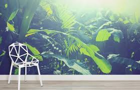 Sun Kissed Jungle Leaves Room Wall Murals