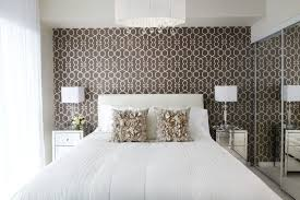 Interesting Master Bedroom Wallpaper With Accent Wall Design Ideas
