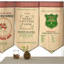 cantonniere pour cuisine 4 pcs lote européenne vintage café cantonnière mi ombre rideaux