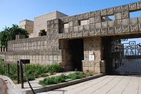 100 Frank Lloyd Wright Textile Block Houses Ennis House Archivitamins