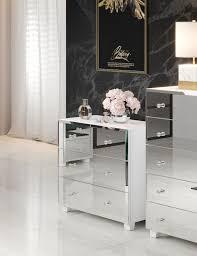 schubladenkommode 2497jg 27 schlafzimmerkommode 72cm weiß spiegelfront