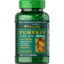 Pumpkin Seeds Prostate Cancer by Buy Puritan U0027s Pride Pumpkin Seed Oil 1000 Mg 100 Softgels Online