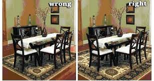 Rugs Under Dining Table Attractive What Size Rug To Use For Your Room Inside 11