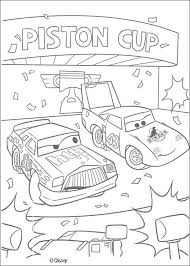 Chick Hicks And The King Coloring Page