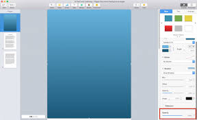 Word Printing Apple Pages Background Color Opacity How
