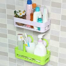 1 x badezimmer küche regal saugnapf rack organizer lagerung