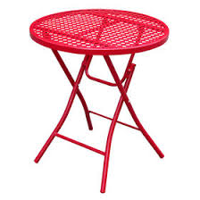 Red Patio Furniture Pinterest by Picture Of 24 In Diamond Stamped Folding Table Red Outdoor