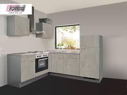 l küche 175 x 225 cm matt beton hell weiß base