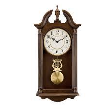 Bulova Table Clocks Wood by Bulova Saybrook Chiming Wall Clock C1517