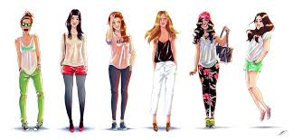 Gallery Sketches Of Fashion Girls