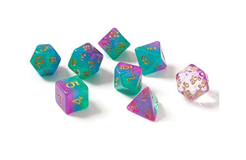 Sirius Dice Northern Lights Polyhedral 7 Dice Set