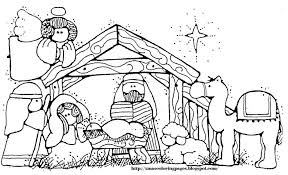 Free Religious Christmas Coloring Pages Printable Line Drawings