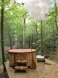 100 Tree Houses With Hot Tubs Hocking Hills House Cabins Wood Fired