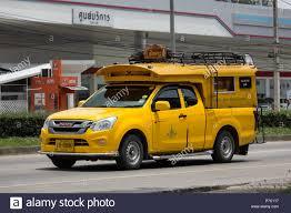100 Isuzu Mini Truck Chiangmai Thailand June 19 2018 Yellow Mini Truck Taxi Chiangmai