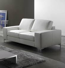canapé cuir blanc 2 places salon marocain moderne decoration