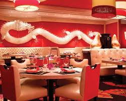 Unique Asian Restaurant Interior Design And Decoration Wonderful White Dragon Wall Decor