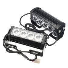 100 Strobe Light For Trucks Pair 12v 4led Strobe Flash Flashing Hazard Grille Beacons Light