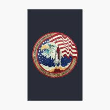 100 V01 Nasa Eagle Rocket Flag Photographic Print