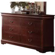 6 drawer Cherry Wood Dressers
